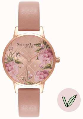 Olivia Burton | les femmes | cadran floral | bracelet vegan rose sable | OB16VE02
