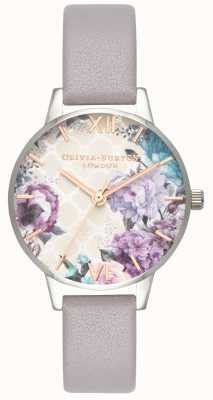 Olivia Burton | les femmes | serre | bracelet en cuir gris lilas | OB16EG104