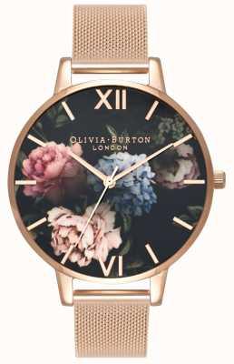 Olivia Burton | les femmes | bouquet bouquet sombre | bracelet en maille d'or rose | OB16WG52