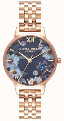 Olivia Burton Femmes | fleurs ornées de bijoux | bracelet en or rose OB16BF17