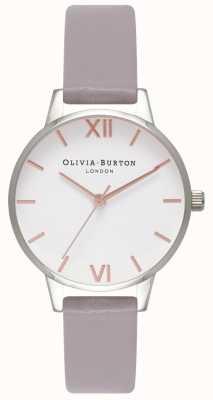 Olivia Burton Femmes   cadran blanc   bracelet lilas gris OB16MDW26