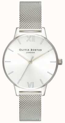 Olivia Burton Femmes   cadran solaire   bracelet en maille d'acier inoxydable OB16MD86