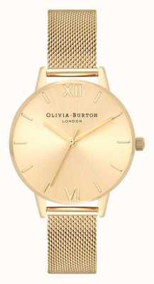 Olivia Burton   les femmes   soleil cadran midi   bracelet en maille d'or   OB16MD85