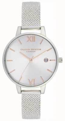 Olivia Burton Femmes | demi date | maille de boucle d'acier inoxydable OB16DE01