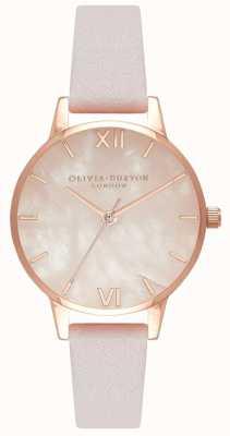 Olivia Burton Femmes | cadran semi précieux | sangle de fleur OB16SP02