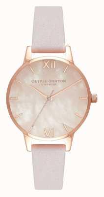 Olivia Burton   femmes   semi précieux   bracelet en cuir fleur   OB16SP02