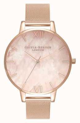 Olivia Burton | les femmes | semi précieux | bracelet en maille d'or rose | OB16SP01