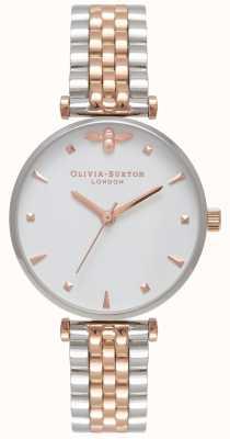 Olivia Burton Femmes | reine des abeilles | bracelet en acier inoxydable deux tons OB16AM93