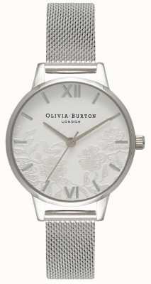 Olivia Burton | les femmes | détail de dentelle | bracelet en maille d'acier inoxydable | OB16MV54