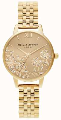 Olivia Burton Femmes   dentelle bejeweled   bracelet en or OB16MV105