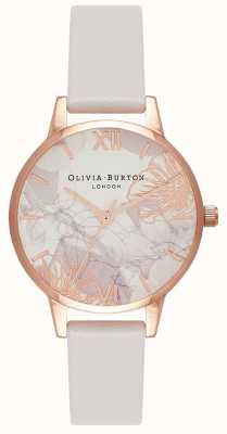 Olivia Burton | femmes | fleurs abstraites | bracelet en cuir blush | OB16VM12