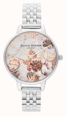 Olivia Burton | les femmes | fleurs en marbre | bracelet en acier inoxydable | OB16CS31