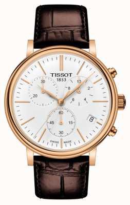 Tissot | chronographe carson premium | bracelet en cuir marron | T1224173601100