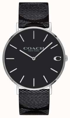 Coach | hommes | signature | charles | cuir noir | 14602157