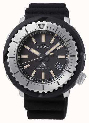 Seiko Prospex Solar Homme Cadran Noir Bracelet Plongeur 200m Noir Silv SNE541P1