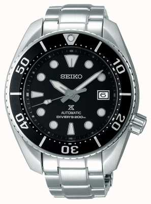 Seiko Bracelet automatique sumex pour homme, acier inoxydable, cadran noir SPB101J1