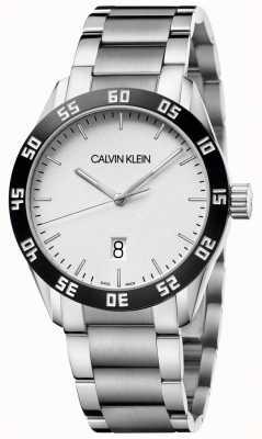 Calvin Klein | rivaliser | hommes | bracelet en acier inoxydable | cadran blanc | K9R31C46