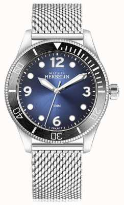Michel Herbelin | trophée quartz | hommes | cadran bleu | maille d'acier inoxydable | 12260/AN15B