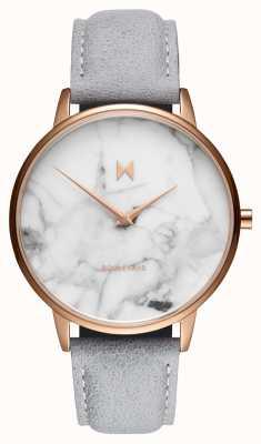 MVMT Boulevard beverly marbre | bracelet en cuir gris | cadran en marbre D-MB01-RGLAMA