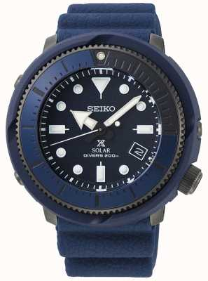 Seiko   prospex   série de rue   silicone bleu marine   plongeur   SNE533P1
