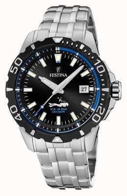Festina | hommes divers | bracelet en acier inoxydable | cadran noir / bleu | F20461/4