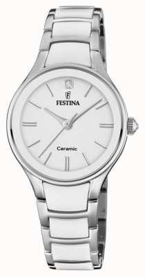 Festina | céramique femme | bracelet argent / blanc | cadran blanc | F20474/1