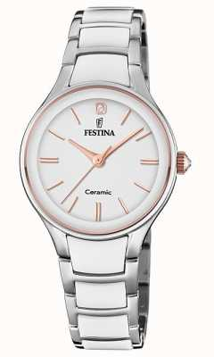 Festina | céramique femme | bracelet argent / blanc | or rose / blanc F20474/2