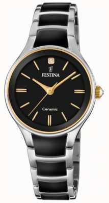 Festina | céramique femme | bracelet argent / noir | cadran noir | F20474/4