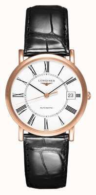 Longines Collection élégante en or rose 18 carats | 34mm hommes | automatique L47788110