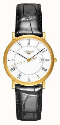 Longines Présence | Or jaune 18 carats | 34mm hommes | bracelet en cuir L47776110
