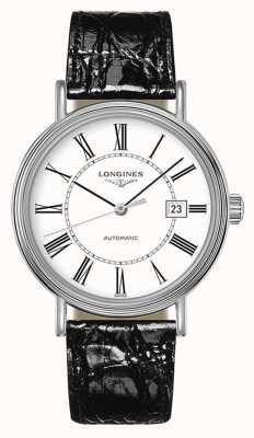 Longines | présence les grandes classiques | cadran blanc en cuir noir L49224112