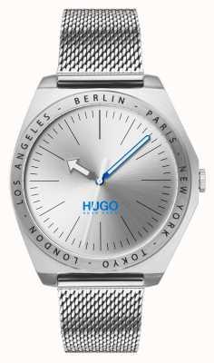 HUGO #act | maille en acier inoxydable | cadran argenté 1530107