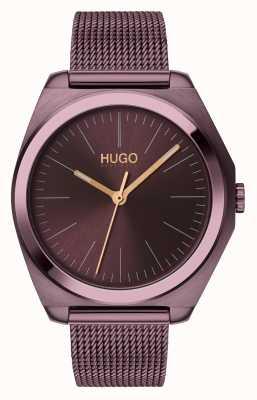 HUGO #imagine | maille ip aubergine | cadran aubergine 1540027