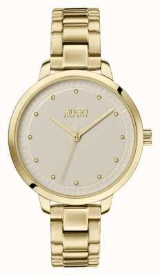 HUGO #achieve | bracelet ip or | cadran champagne 1540039