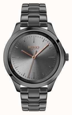 HUGO #fearless | bracelet ip gris | cadran gris 1540042