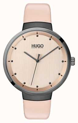 HUGO #go | bracelet en cuir rose | cadran en or rose 1540001