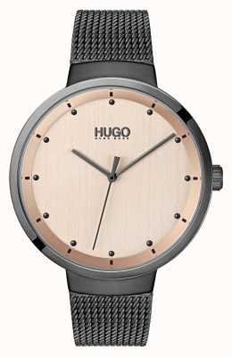 HUGO #go | maille ip gris | cadran en or rose 1540003