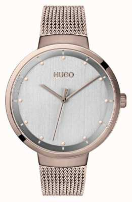 HUGO #go | maille ip or rose | cadran gris 1540004