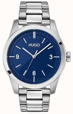 HUGO #create | bracelet en acier inoxydable | cadran bleu 1530015