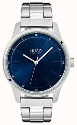 HUGO #dare | bracelet en acier inoxydable | cadran bleu 1530020