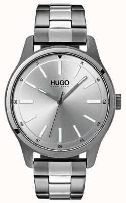 HUGO #dare | bracelet en acier inoxydable | cadran argenté 1530021