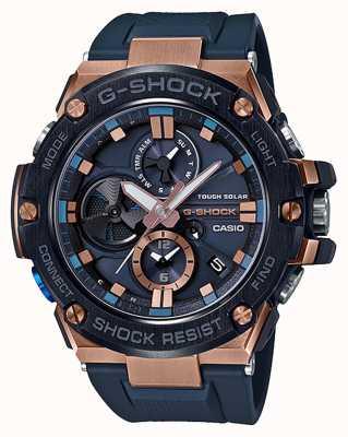 Casio | g-shock | g-acier | bluetooth | chronographe | bleu | GST-B100G-2AER