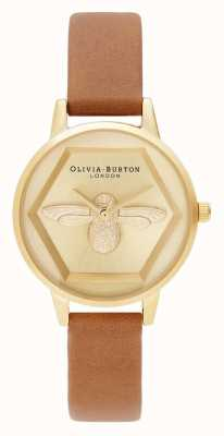 Olivia Burton | Montre 3d charité abeille | sangle vegan miel | OB16AM167
