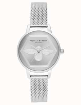 Olivia Burton | Montre 3d charité abeille | bracelet maille d'argent l OB16AM168