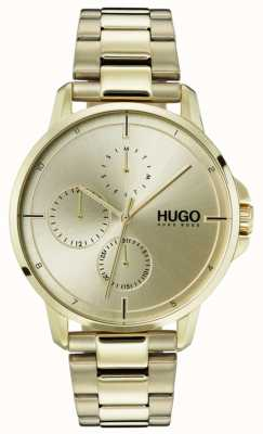HUGO #focus | bracelet ip en or | cadran en or 1530026