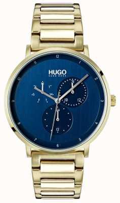 HUGO #guide | bracelet ip or | cadran bleu 1530011