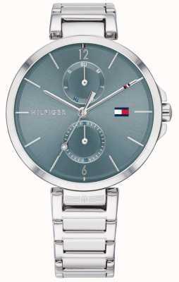 Tommy Hilfiger | bracelet en acier inoxydable pour femmes | cadran bleu | 1782126