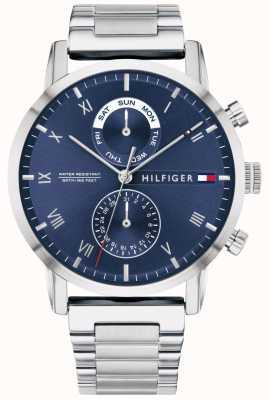 Tommy Hilfiger | bracelet en acier inoxydable pour hommes | cadran bleu | 1710401