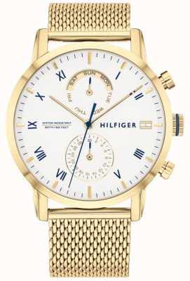 Tommy Hilfiger | bracelet en acier pour homme | cadran blanc | 1710403