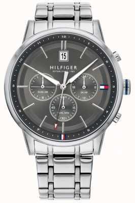 Tommy Hilfiger | bracelet en acier inoxydable pour hommes | cadran gris | chronographe | 1791632
